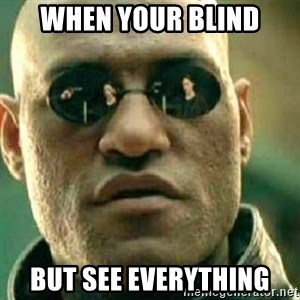 What If I Told You - when your blind but see everything