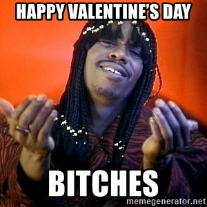 Rick James its friday - Happy Valentine's Day Bitches