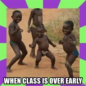 african kids dancing - when class is over early