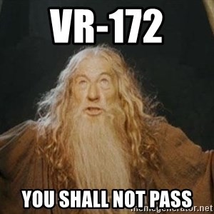 You shall not pass - vr-172  you shall not pass
