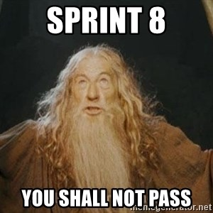 You shall not pass - sprint 8 you shall not pass