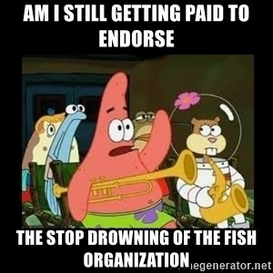 Patrick Star Instrument - Am i still getting paid to endorse the stop drowning of the fish organization
