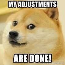 dogeee - my adjustments  are done!