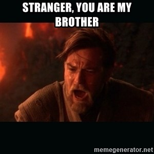 "Obi Wan Kenobi ""You were my brother!"" - Stranger, you are my brother"