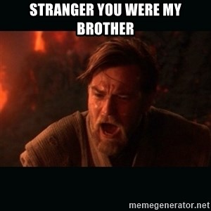 "Obi Wan Kenobi ""You were my brother!"" - Stranger you were my brother"