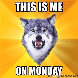 Courage Wolf - this is me on monday
