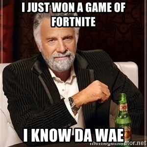 The Most Interesting Man In The World - I just won a game of Fortnite I know da wae