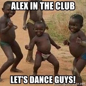african children dancing - Alex in the club Let's dance guys!
