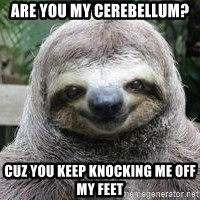 Sexual Sloth - Are you my Cerebellum?  cuz you keep knocking me off my feet
