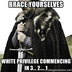 Sean Bean Game Of Thrones - Brace yourselves White privilege commencing in 3... 2.... 1