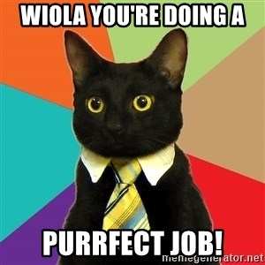 Business Cat - Wiola you're doing a purrfect job!