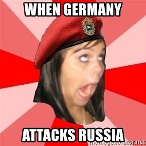 Comunist Stupid Facebook Girl - When germany attacks russia
