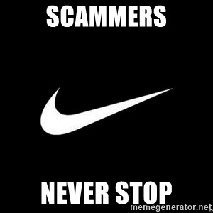 Nike swoosh - Scammers never stop