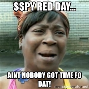 aint nobody got time fo dat - $SPY red day... aint nobody got time fo dat!