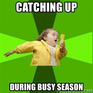 Chubby Bubbles Girl - Catching up  during busy season