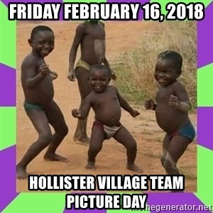 african kids dancing - Friday February 16, 2018 Hollister Village Team Picture Day