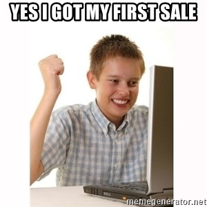 Computer kid - Yes I got my first sale