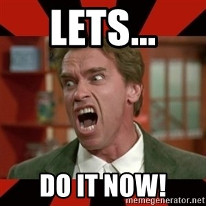 Arnold Schwarzenegger 1 - Lets... do it now!