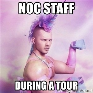 Unicorn man  - NOC Staff  During a Tour