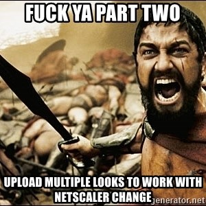 This Is Sparta Meme - Fuck Ya part two Upload multiple looks to work with netscaler change