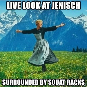 Look at all the things - live look at Jenisch  surrounded by squat racks