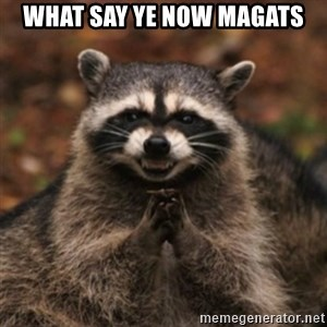 evil raccoon - what say ye now magats