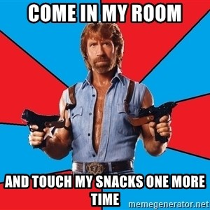 Chuck Norris  - Come in my room And touch my snacks one more time