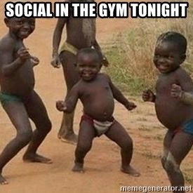 african children dancing - Social in the gym tonight