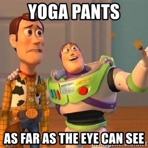 Consequences Toy Story - YOGA PANTS As far as the eye can see