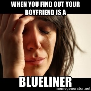 crying girl sad - When you find out your boyfriend is a BLUELINER