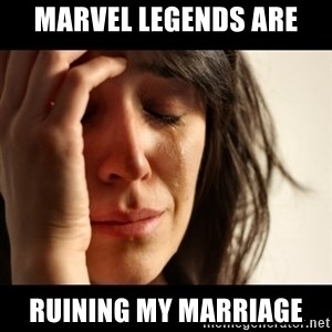 crying girl sad - Marvel legends are Ruining my marriage