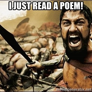 This Is Sparta Meme - I just read a poem!