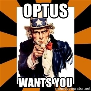 Uncle sam wants you! - OPTUS WANTS YOU