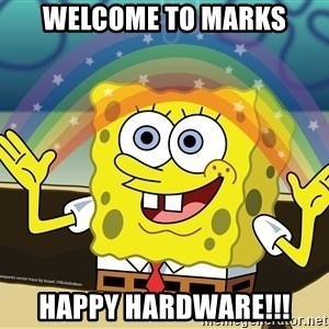spongebob rainbow - Welcome to Marks Happy Hardware!!!
