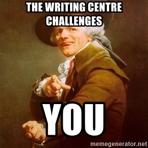 Joseph Ducreux - The Writing Centre challenges YOU