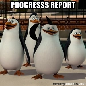 Madagascar Penguin - Progresss report