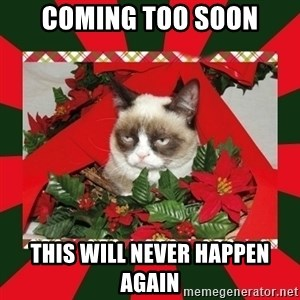 GRUMPY CAT ON CHRISTMAS - Coming too soon This will never happen again