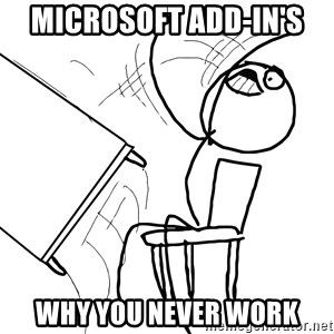 Desk Flip Rage Guy - Microsoft Add-In's  Why you never work
