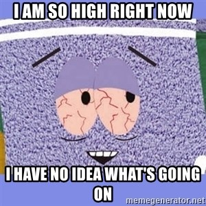 Towelie - i am so high right now i have no idea what's going on
