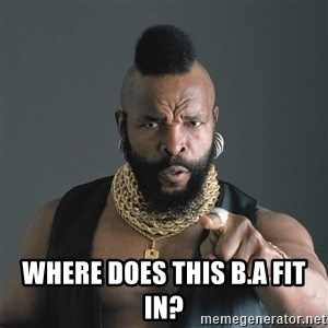 Mr T Fool - where does this B.A fit in?