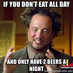 Giorgio A Tsoukalos Hair - If you don't eat all day And only have 2 beers a night