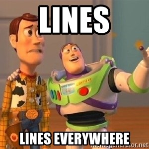 Consequences Toy Story - Lines Lines everywhere