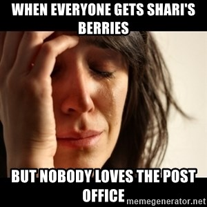 crying girl sad - When everyone gets Shari's Berries But nobody Loves the Post Office
