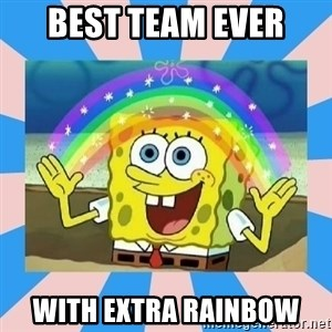 Spongebob Imagination - Best team ever With Extra rainbow