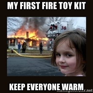 burning house girl - My first fire toy kit Keep everyone warm