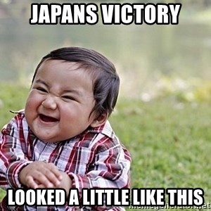 Evil Asian Baby - japans victory looked a little like this