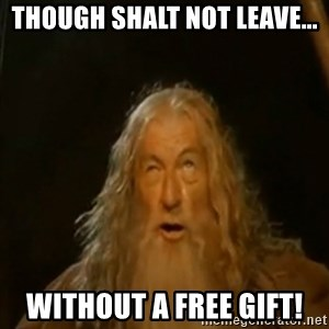 Gandalf You Shall Not Pass - THOUGH SHALT NOT LEAVE... WITHOUT A FREE GIFT!