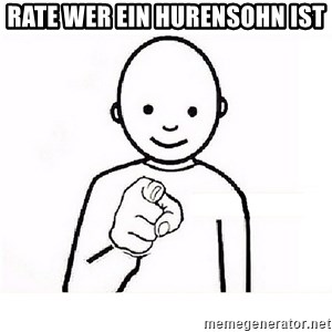 GUESS WHO YOU - Rate wer ein Hurensohn ist