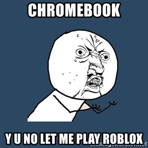 Y U No - Chromebook y u no let me play roblox