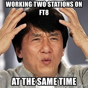 Jackie Chan - working two stations on FT8 at the same time